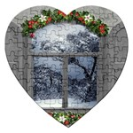 Winter 1660924 1920 Jigsaw Puzzle (Heart) Front