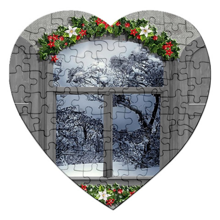 Winter 1660924 1920 Jigsaw Puzzle (Heart)