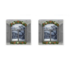 Winter 1660924 1920 Cufflinks (Square)