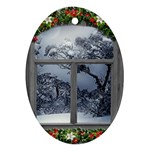 Winter 1660924 1920 Oval Ornament (Two Sides) Front