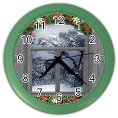 Winter 1660924 1920 Color Wall Clock
