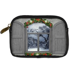 Winter 1660924 1920 Digital Camera Leather Case