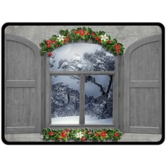 Winter 1660924 1920 Fleece Blanket (Large)