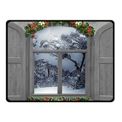 Winter 1660924 1920 Fleece Blanket (Small)
