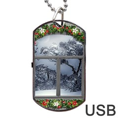 Winter 1660924 1920 Dog Tag USB Flash (One Side)
