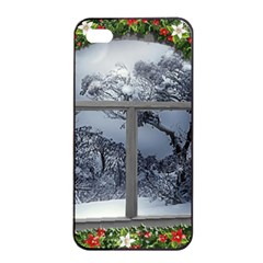 Winter 1660924 1920 Apple iPhone 4/4s Seamless Case (Black)