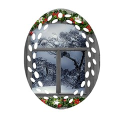 Winter 1660924 1920 Oval Filigree Ornament (Two Sides)