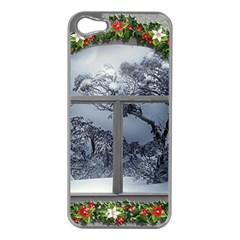 Winter 1660924 1920 Apple iPhone 5 Case (Silver)