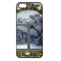 Winter 1660924 1920 Apple iPhone 5 Seamless Case (Black)