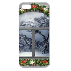 Winter 1660924 1920 Apple Seamless iPhone 5 Case (Clear)