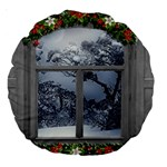 Winter 1660924 1920 Large 18  Premium Round Cushions Front