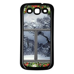 Winter 1660924 1920 Samsung Galaxy S3 Back Case (Black)