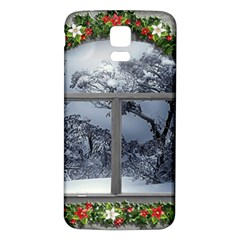 Winter 1660924 1920 Samsung Galaxy S5 Back Case (White)