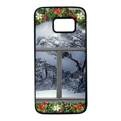 Winter 1660924 1920 Samsung Galaxy S7 Black Seamless Case