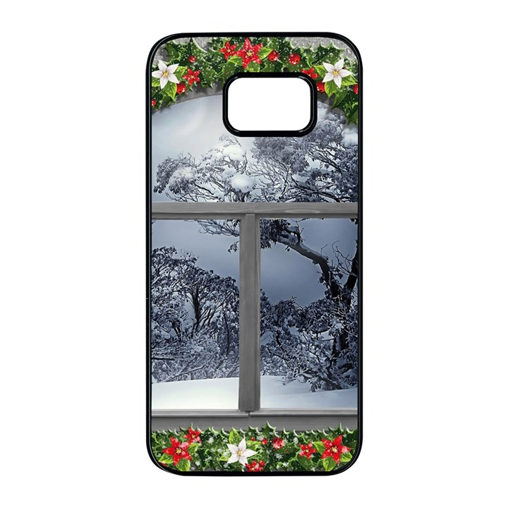 Winter 1660924 1920 Samsung Galaxy S7 edge Black Seamless Case