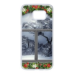 Winter 1660924 1920 Samsung Galaxy S7 edge White Seamless Case