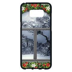 Winter 1660924 1920 Samsung Galaxy S8 Plus Black Seamless Case