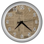 Background 1706636 1920 Wall Clock (Silver) Front