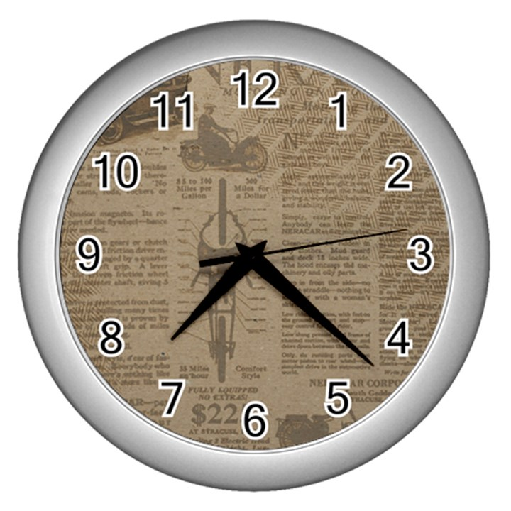Background 1706636 1920 Wall Clock (Silver)