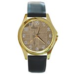 Background 1706636 1920 Round Gold Metal Watch Front
