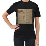 Background 1706636 1920 Women s T-Shirt (Black) (Two Sided) Front
