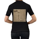 Background 1706636 1920 Women s T-Shirt (Black) (Two Sided) Back