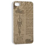 Background 1706636 1920 Apple iPhone 4/4s Seamless Case (White) Front