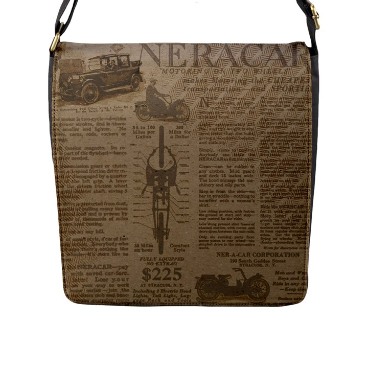Background 1706636 1920 Flap Closure Messenger Bag (L)
