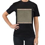 Background 1706644 1920 Women s T-Shirt (Black) (Two Sided) Front
