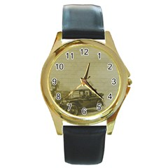 Background 1706642 1920 Round Gold Metal Watch by vintage2030