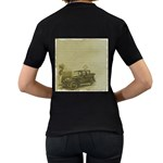 Background 1706642 1920 Women s T-Shirt (Black) (Two Sided) Back