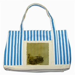 Background 1706642 1920 Striped Blue Tote Bag