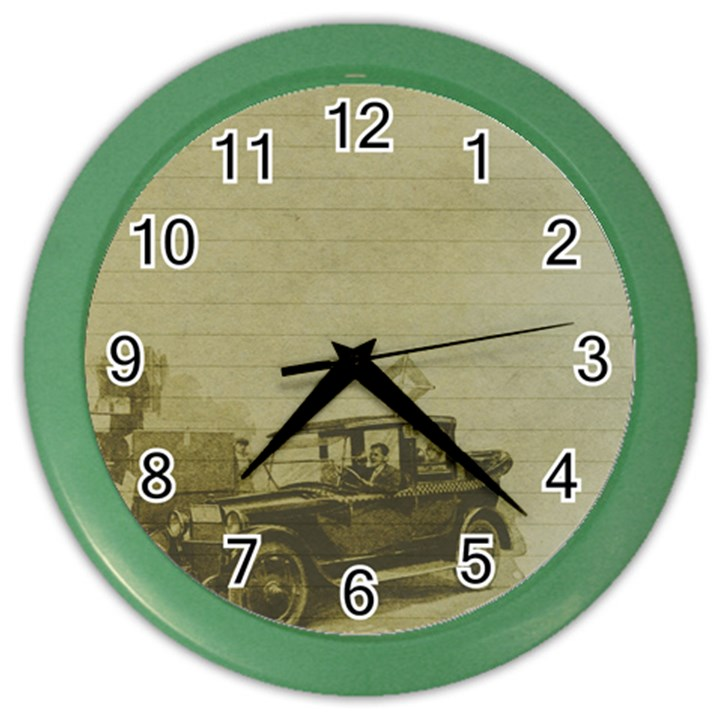 Background 1706642 1920 Color Wall Clock