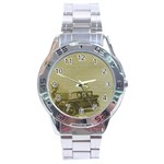 Background 1706642 1920 Stainless Steel Analogue Watch Front