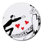 Manloveswoman Round Mousepads Front