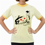 Manloveswoman Women s Fitted Ringer T-Shirt Front