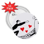 Manloveswoman 2.25  Buttons (10 pack)  Front