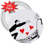 Manloveswoman 3  Buttons (100 pack)  Front