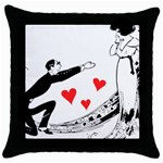 Manloveswoman Throw Pillow Case (Black) Front