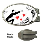 Manloveswoman Money Clips (Oval)  Front