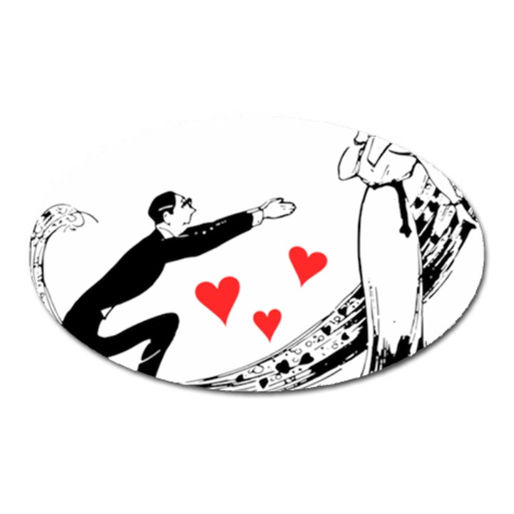 Manloveswoman Oval Magnet