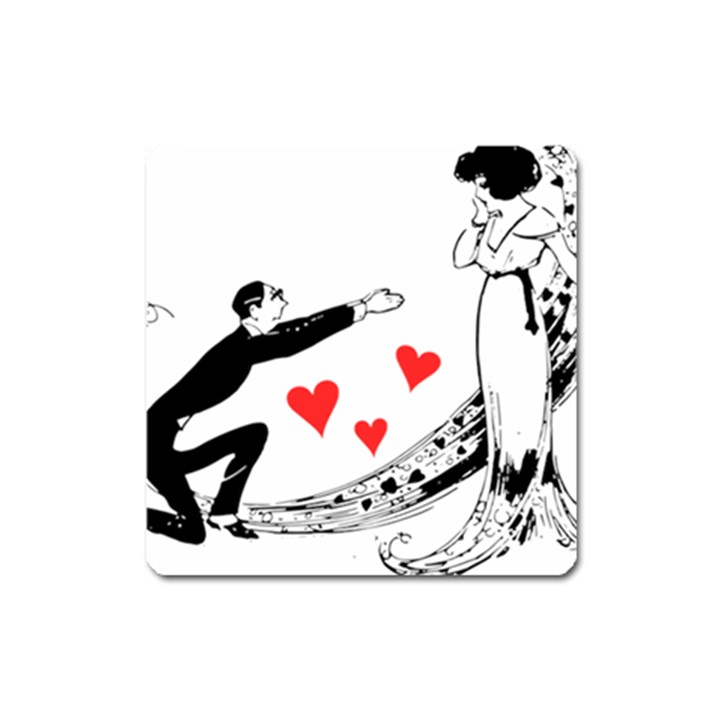 Manloveswoman Square Magnet