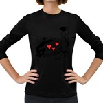 Manloveswoman Women s Long Sleeve Dark T-Shirt Front