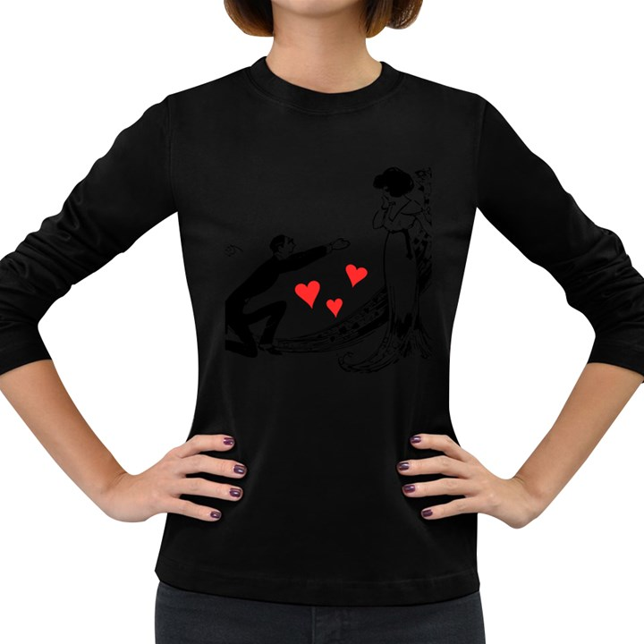 Manloveswoman Women s Long Sleeve Dark T-Shirt