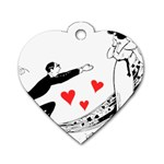 Manloveswoman Dog Tag Heart (One Side) Front