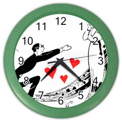 Manloveswoman Color Wall Clock