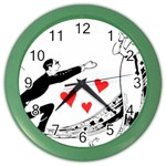 Manloveswoman Color Wall Clock Front