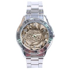 Flowers 1776630 1920 Stainless Steel Analogue Watch by vintage2030