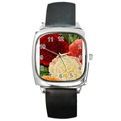 Flowers 1776584 1920 Square Metal Watch by vintage2030
