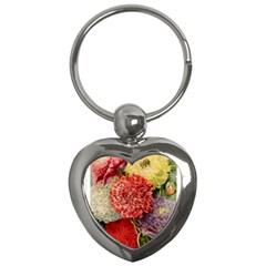 Flowers 1776541 1920 Key Chains (heart)  by vintage2030